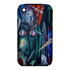 Graffiti Art Urban Design Paint  Apple iPhone 3G/3GS Hardshell Case (PC+Silicone)