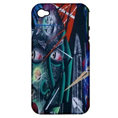 Graffiti Art Urban Design Paint  Apple iPhone 4/4S Hardshell Case (PC+Silicone)