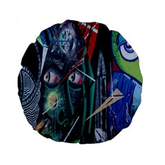 Graffiti Art Urban Design Paint  Standard 15  Premium Round Cushions