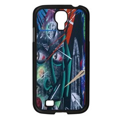 Graffiti Art Urban Design Paint  Samsung Galaxy S4 I9500/ I9505 Case (Black)