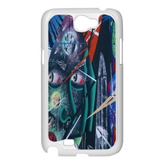 Graffiti Art Urban Design Paint  Samsung Galaxy Note 2 Case (White)