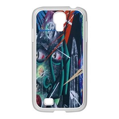 Graffiti Art Urban Design Paint  Samsung GALAXY S4 I9500/ I9505 Case (White)