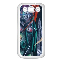 Graffiti Art Urban Design Paint  Samsung Galaxy S3 Back Case (White)