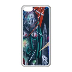 Graffiti Art Urban Design Paint  Apple iPhone 5C Seamless Case (White)