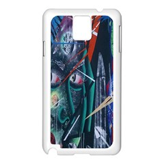 Graffiti Art Urban Design Paint  Samsung Galaxy Note 3 N9005 Case (White)