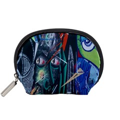 Graffiti Art Urban Design Paint  Accessory Pouches (Small)