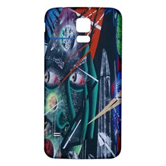 Graffiti Art Urban Design Paint  Samsung Galaxy S5 Back Case (White)