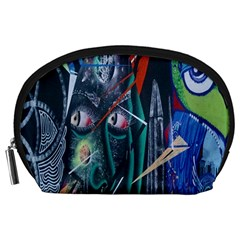 Graffiti Art Urban Design Paint  Accessory Pouches (Large)