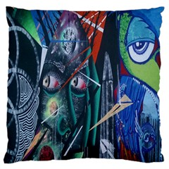 Graffiti Art Urban Design Paint  Large Flano Cushion Case (Two Sides)