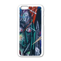 Graffiti Art Urban Design Paint  Apple iPhone 6/6S White Enamel Case