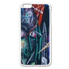 Graffiti Art Urban Design Paint  Apple iPhone 6 Plus/6S Plus Enamel White Case
