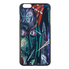Graffiti Art Urban Design Paint  Apple iPhone 6 Plus/6S Plus Black Enamel Case