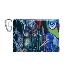 Graffiti Art Urban Design Paint  Canvas Cosmetic Bag (M)
