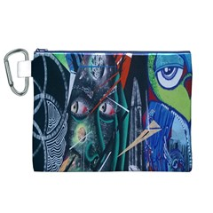 Graffiti Art Urban Design Paint  Canvas Cosmetic Bag (XL)