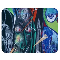 Graffiti Art Urban Design Paint  Double Sided Flano Blanket (Medium)