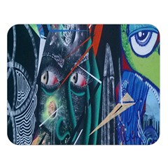 Graffiti Art Urban Design Paint  Double Sided Flano Blanket (Large)
