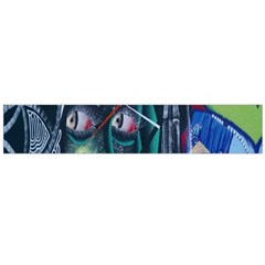 Graffiti Art Urban Design Paint  Flano Scarf (Large)