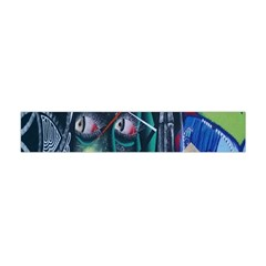 Graffiti Art Urban Design Paint  Flano Scarf (Mini)