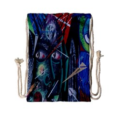 Graffiti Art Urban Design Paint  Drawstring Bag (Small)