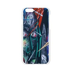 Graffiti Art Urban Design Paint  Apple Seamless iPhone 6/6S Case (Transparent)
