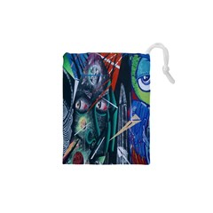 Graffiti Art Urban Design Paint  Drawstring Pouches (XS)