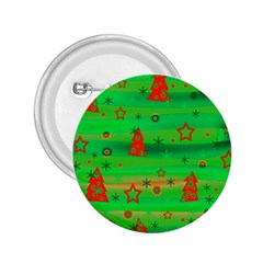 Green Xmas magic 2.25  Buttons