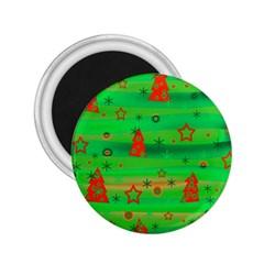 Green Xmas magic 2.25  Magnets