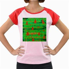 Green Xmas magic Women s Cap Sleeve T-Shirt