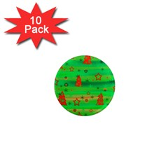 Green Xmas magic 1  Mini Magnet (10 pack)