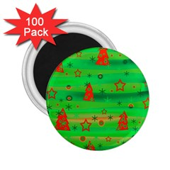 Green Xmas magic 2.25  Magnets (100 pack)