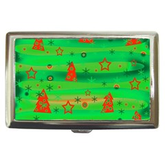Green Xmas magic Cigarette Money Cases
