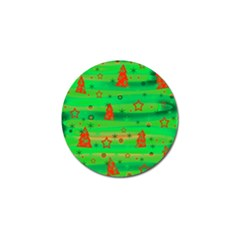 Green Xmas magic Golf Ball Marker