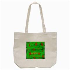 Green Xmas magic Tote Bag (Cream)