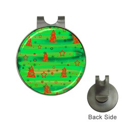 Green Xmas magic Hat Clips with Golf Markers