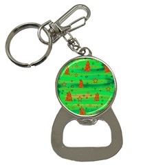 Green Xmas magic Bottle Opener Key Chains