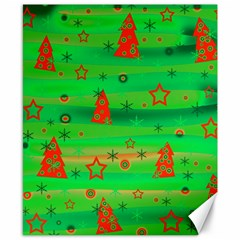 Green Xmas magic Canvas 8  x 10