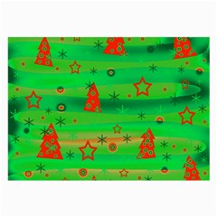 Green Xmas magic Large Glasses Cloth (2-Side)