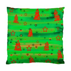 Green Xmas magic Standard Cushion Case (Two Sides)