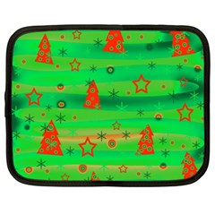 Green Xmas magic Netbook Case (XXL)