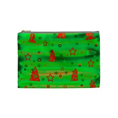Green Xmas magic Cosmetic Bag (Medium)