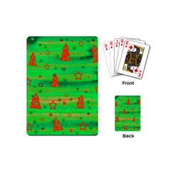 Green Xmas magic Playing Cards (Mini)