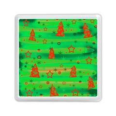 Green Xmas magic Memory Card Reader (Square)