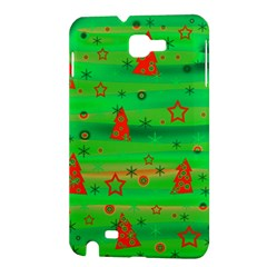 Green Xmas magic Samsung Galaxy Note 1 Hardshell Case