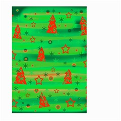 Green Xmas magic Large Garden Flag (Two Sides)