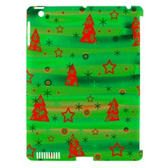 Green Xmas magic Apple iPad 3/4 Hardshell Case (Compatible with Smart Cover)