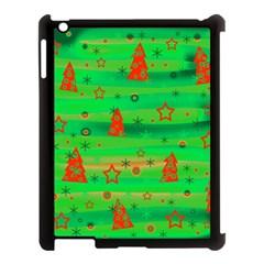 Green Xmas magic Apple iPad 3/4 Case (Black)