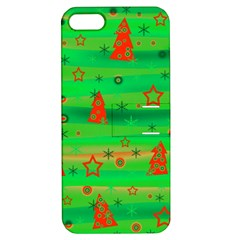 Green Xmas magic Apple iPhone 5 Hardshell Case with Stand