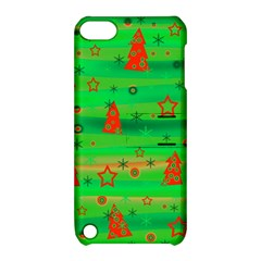 Green Xmas magic Apple iPod Touch 5 Hardshell Case with Stand