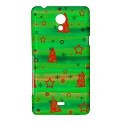 Green Xmas magic Sony Xperia T