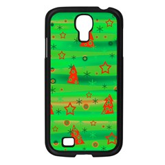 Green Xmas magic Samsung Galaxy S4 I9500/ I9505 Case (Black)